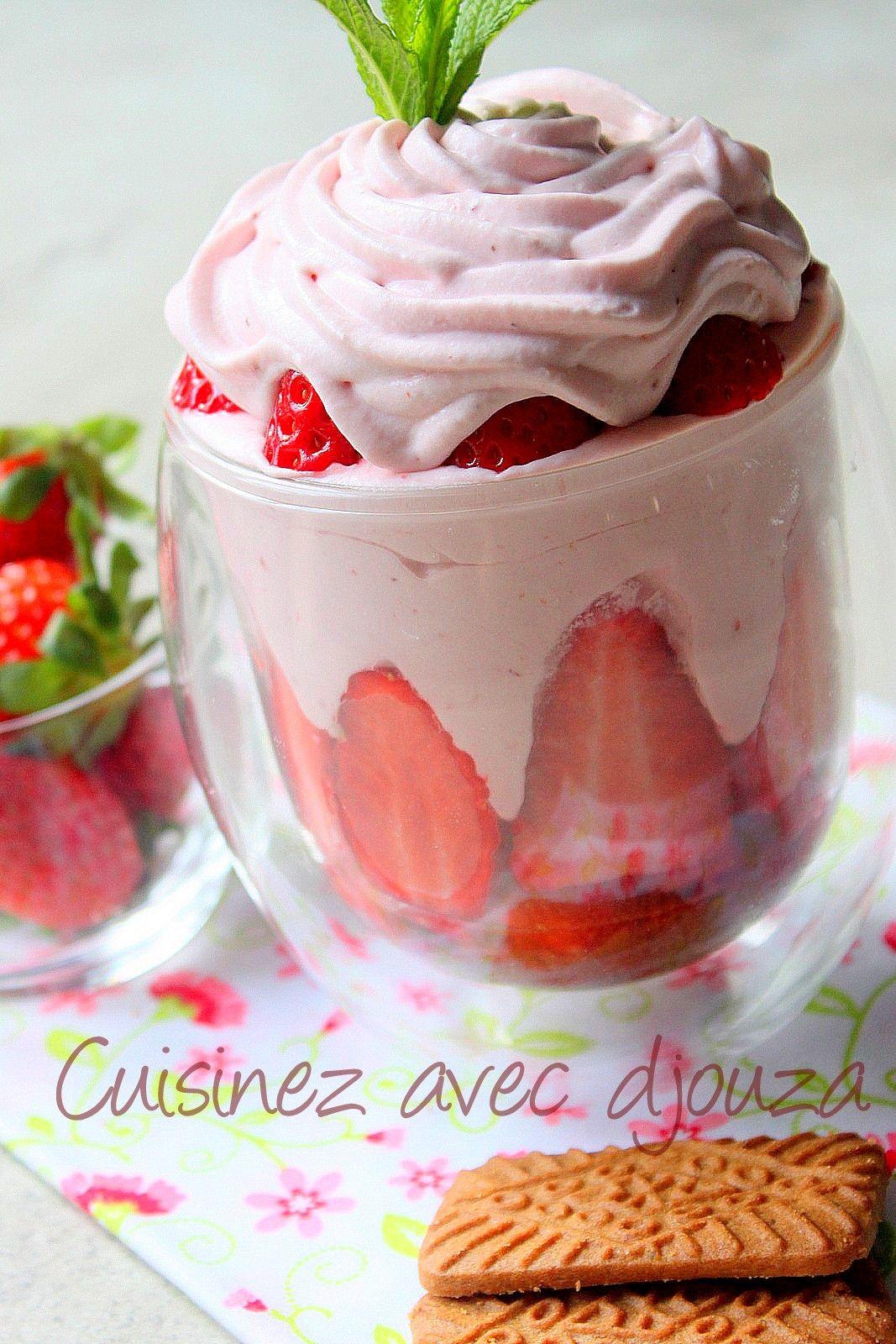 Mousse De Fraises Au Mascarpone Verrines Desserts Mousse