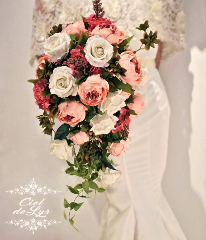 Make Silk Wedding Flowers: How To Make Cascading Wedding Bouquets