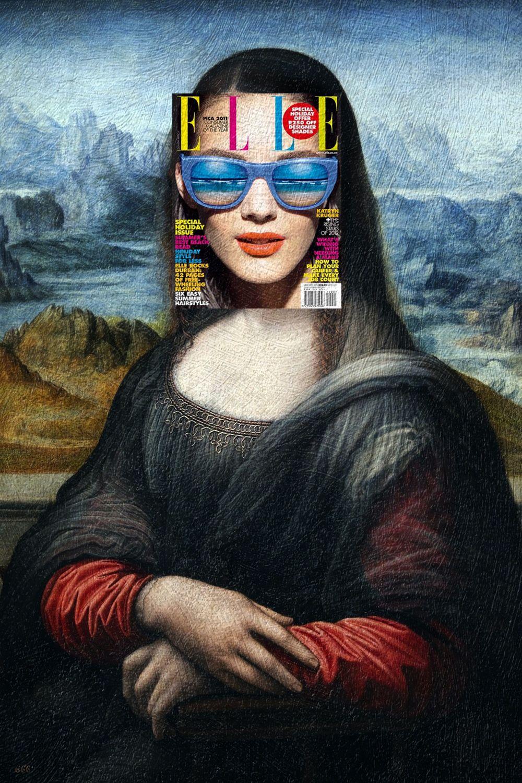 Prada Mona Lisa wearing Dolce & Gabbana Katryn Kruger, Elle South Africa…