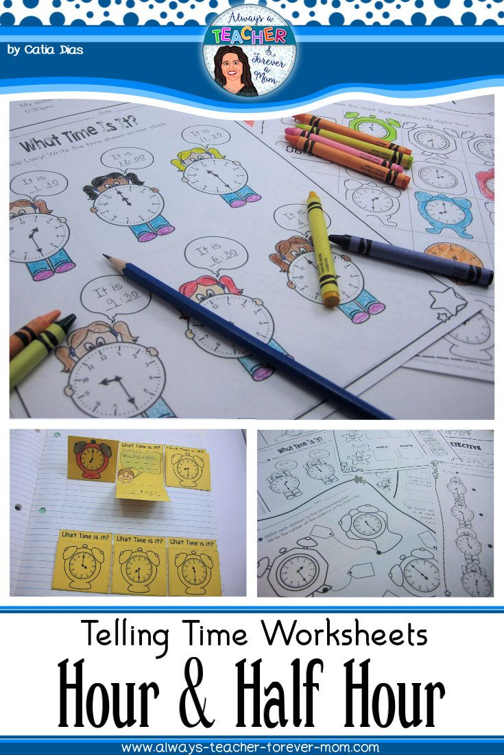 Workbooks time to hour and half hour worksheets : Telling Time Worksheets - Hour & Half Hour | Worksheets, Telling ...