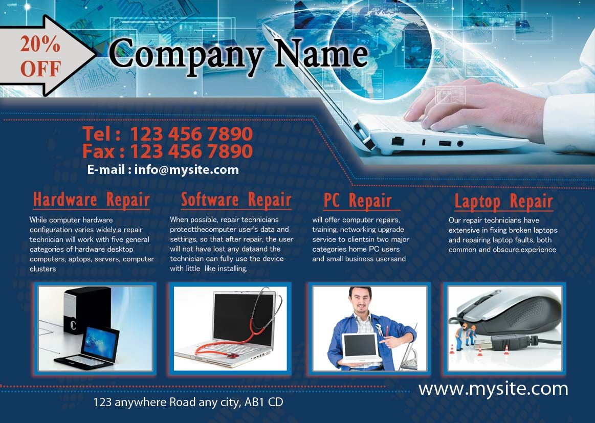 Get Best Professional Computer Repair Flyers Designing And