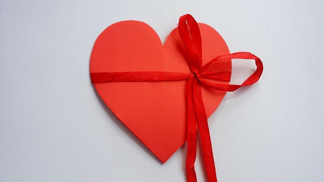 Diy how to make heart shape card valentine pop up