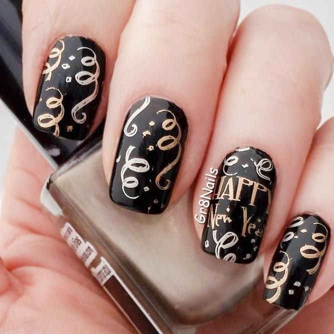 30 Exciting Ideas For New Years Nails To Warm Up Your Holiday Mood