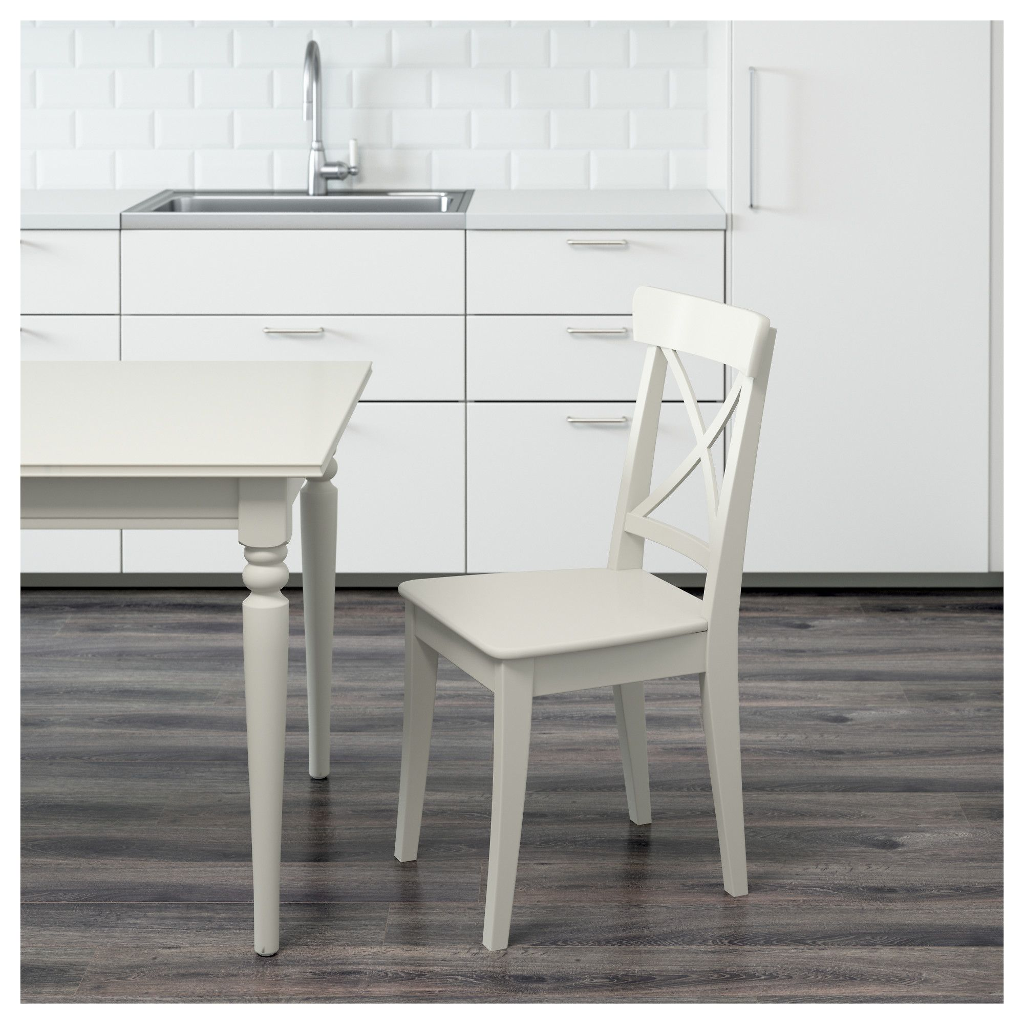 IKEA INGOLF Chair white Ikea, Ikea chair, Chair