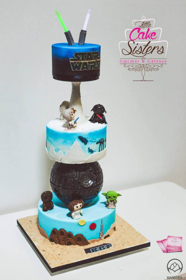 star wars tower cake Cake by Vanessa truffier Art in Yum Form