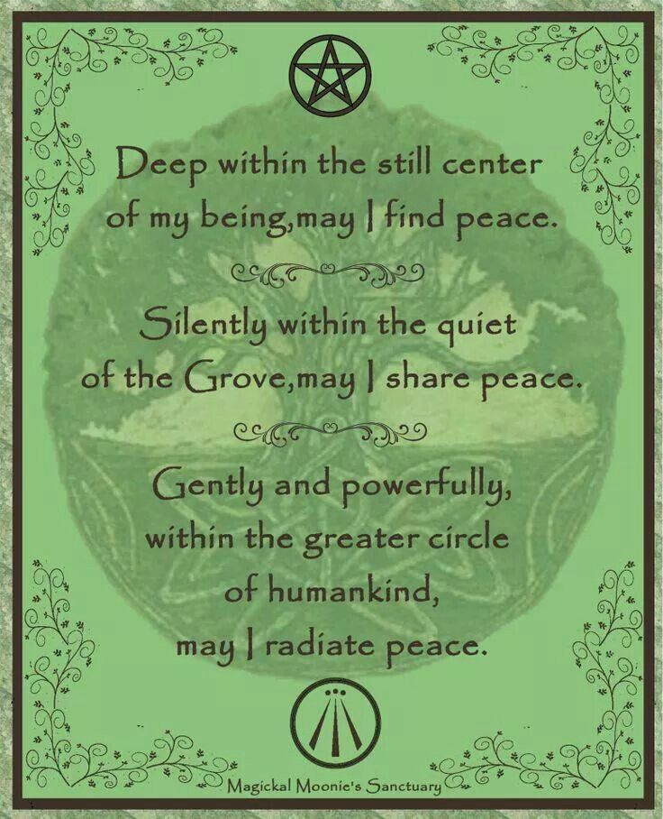 Image result for wiccan prayer for peace