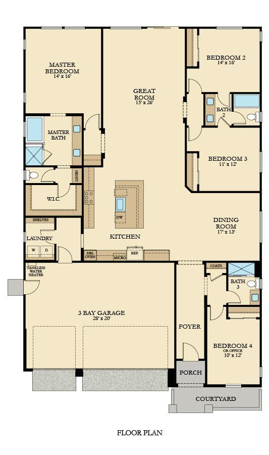 The Turquoise Plan 2361 New Home Plan In Brookstone At Spring Lake New House Plans House Plans Apartment Floor Plans