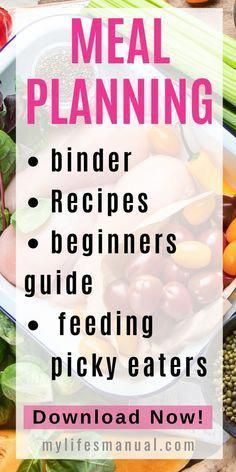 Looking for a Meal Planning Binder for easy meal planning Check out our Meal Pl Looking for a Meal Planning Binder for easy meal planning Check out our Meal Pl