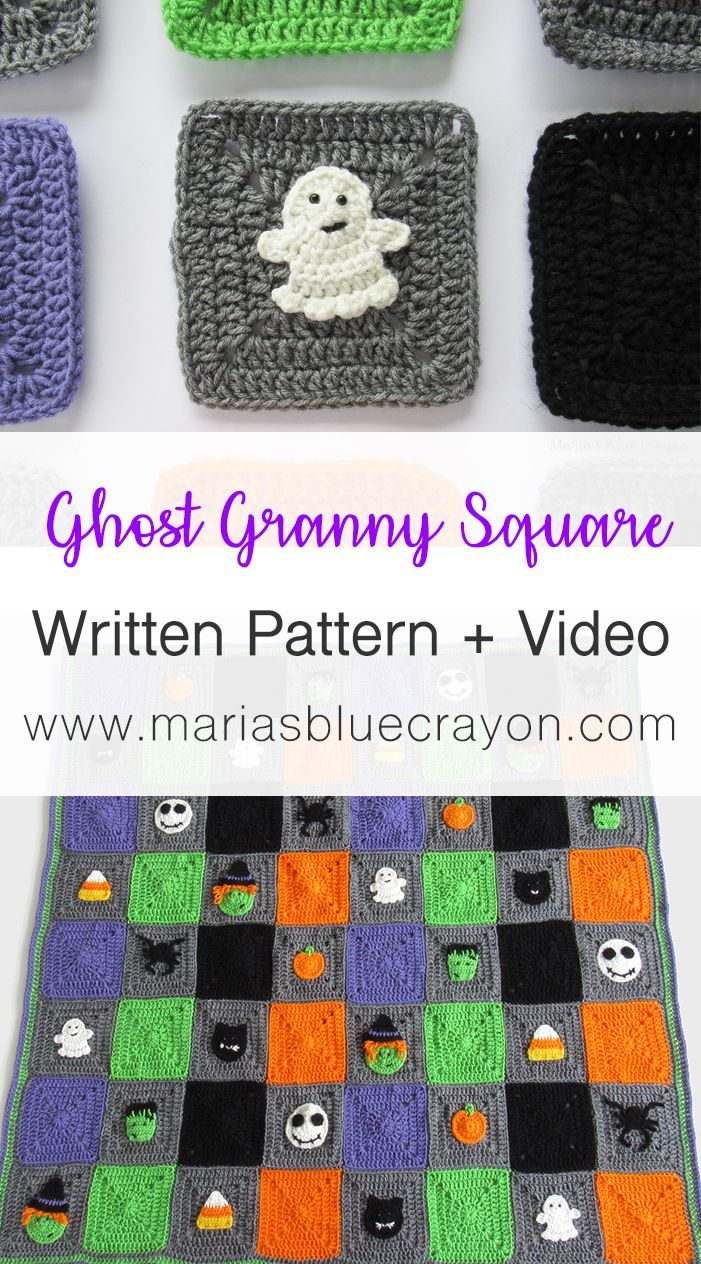 Halloween Skeleton Granny Square Free Pattern | Pinterest