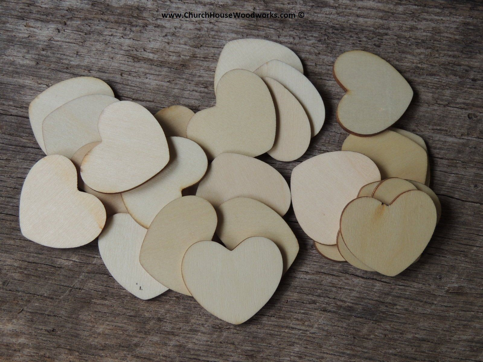 Blank 1 Wood Hearts 100 Ct 1inch Wooden Hearts Light Colored Wood Wedding Decorations