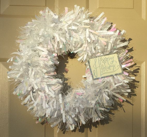 Check out this item in my Etsy shop https://www.etsy.com/listing/476557197/happy-holidays-wreath