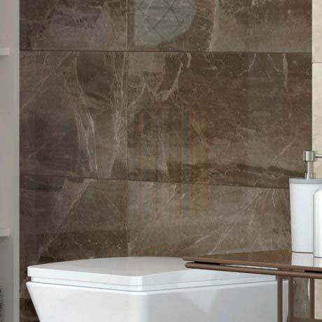 Gio Brown Gloss Marble Effect Wall Tiles 30 X 60cm Tiles Bathroom Wall Tile Marble Effect