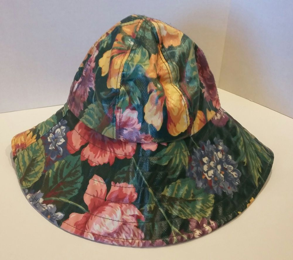 5ff5efcf NORDIC HOUSE DESIGNS NYC Floral Rain Hat Bucket Wide Brim Woman's  Waterproof #NordicHouseDesigns #WideBrim