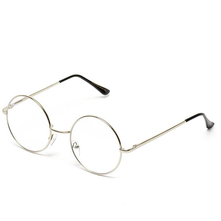4b277f3129 Classic clear round full metal clear lens glasses! Perfect pair of clear  glasses for any occasion. Dimensions  Frame Width  141mm Lens Width  52mm  Lens ...