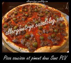 Pizza saucisse et piment doux SANS PLV et oeufs