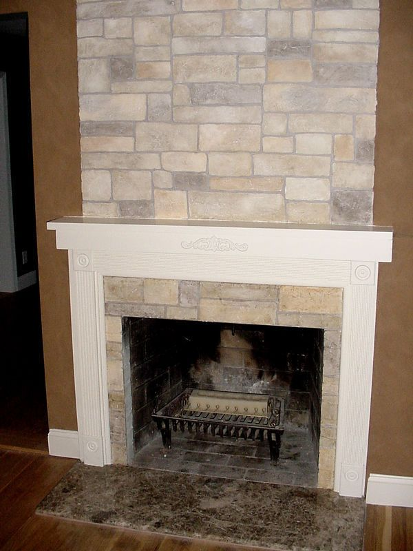 no stones just the faux stone finish hmmm for the house faux rh pinterest com Painted Stone Fireplace paint faux stone fireplace