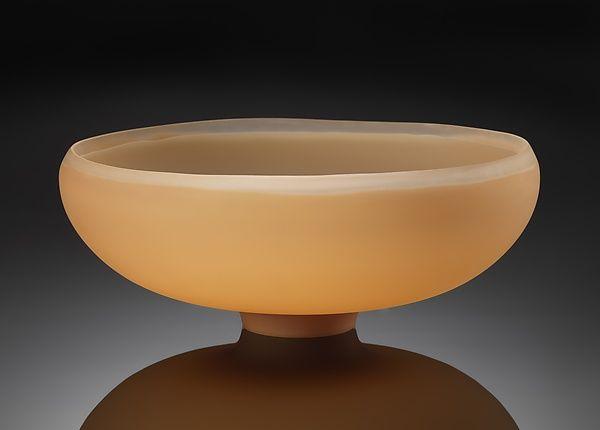 Refined: Peach: Jacob Vincent: Art Glass Bowl - Artful Home