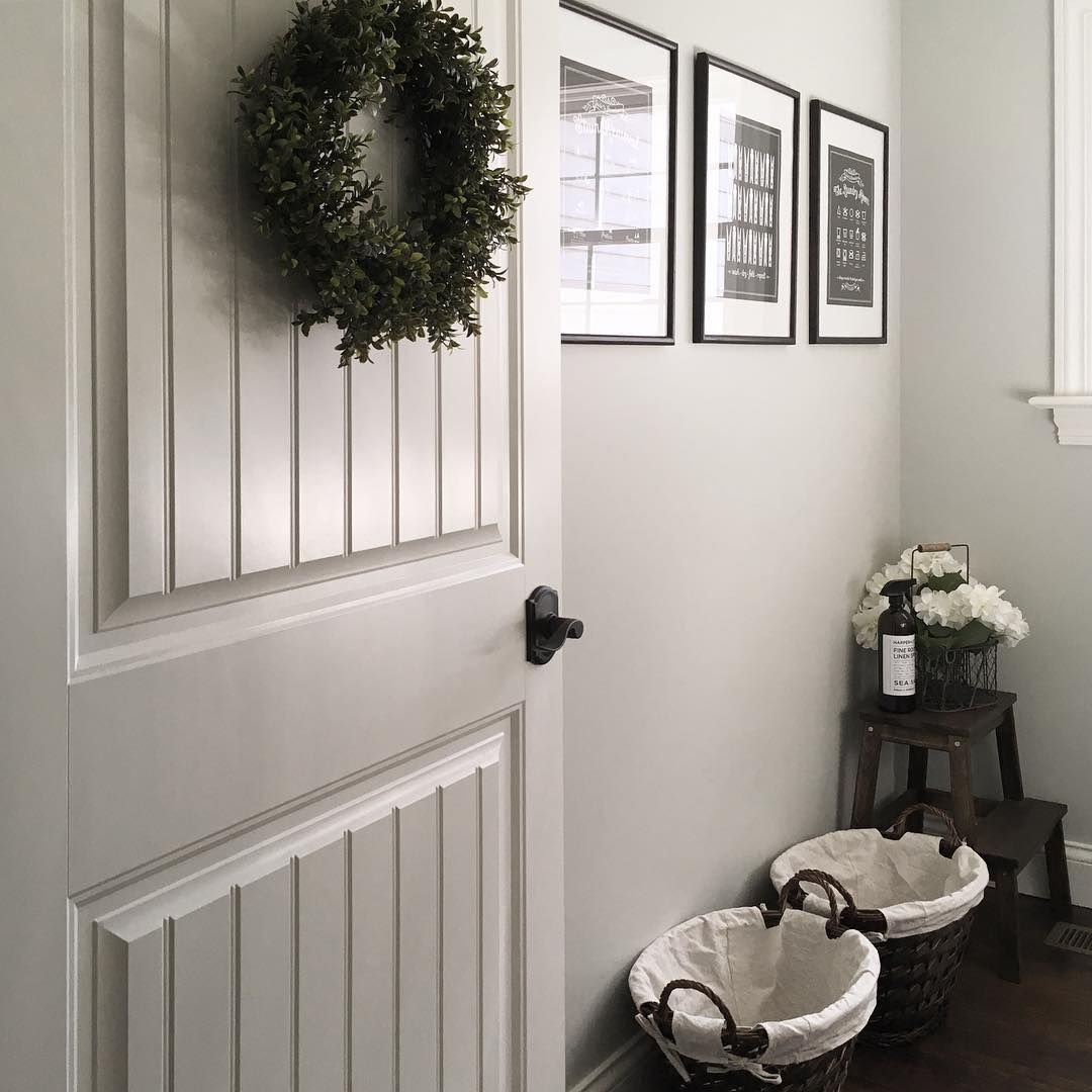 Accent Color For Wall That Goes With Lght Gray: Wall Color - BM Gray Owl Trim - BM Swiss Coffee
