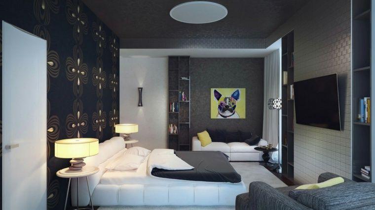 Couleur chambre adulte  idées déco avec nuances foncées Dog beds