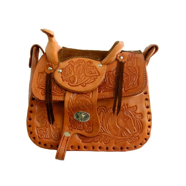 JRP-8251-09 Leather Saddle Purse Tan