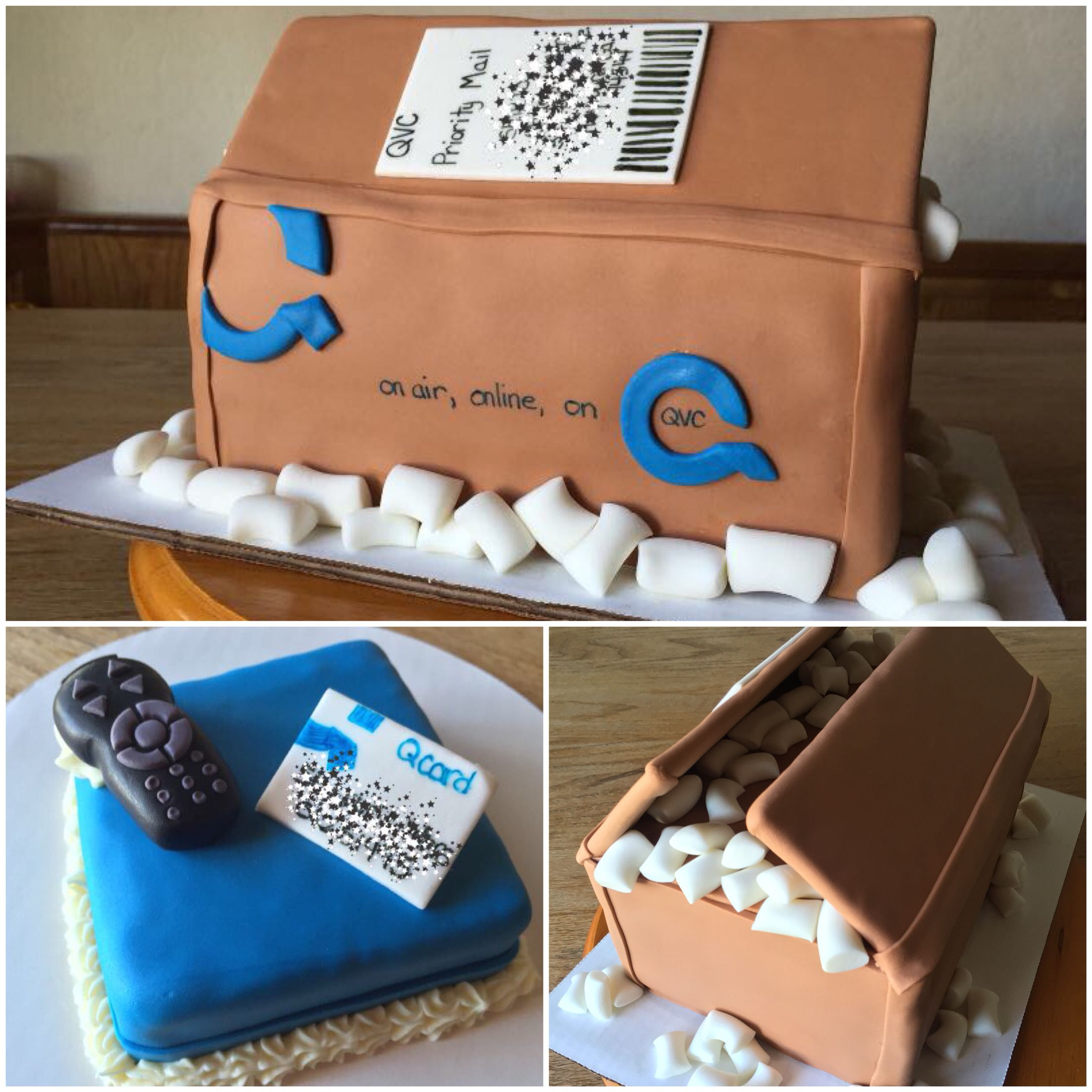 Incredible Qvc Shipping Box And Remote Cake With Images Box Cake Cake Funny Birthday Cards Online Aboleapandamsfinfo