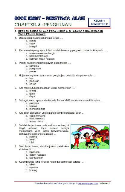 Download Soal Tematik Kelas 1 Semester 2 Tema 8 Subtema 3 Peristiwa Alam Penghujan Edisi Terbaru Matematika Kelas Satu Matematika Kelas 4 Buku Pelajaran