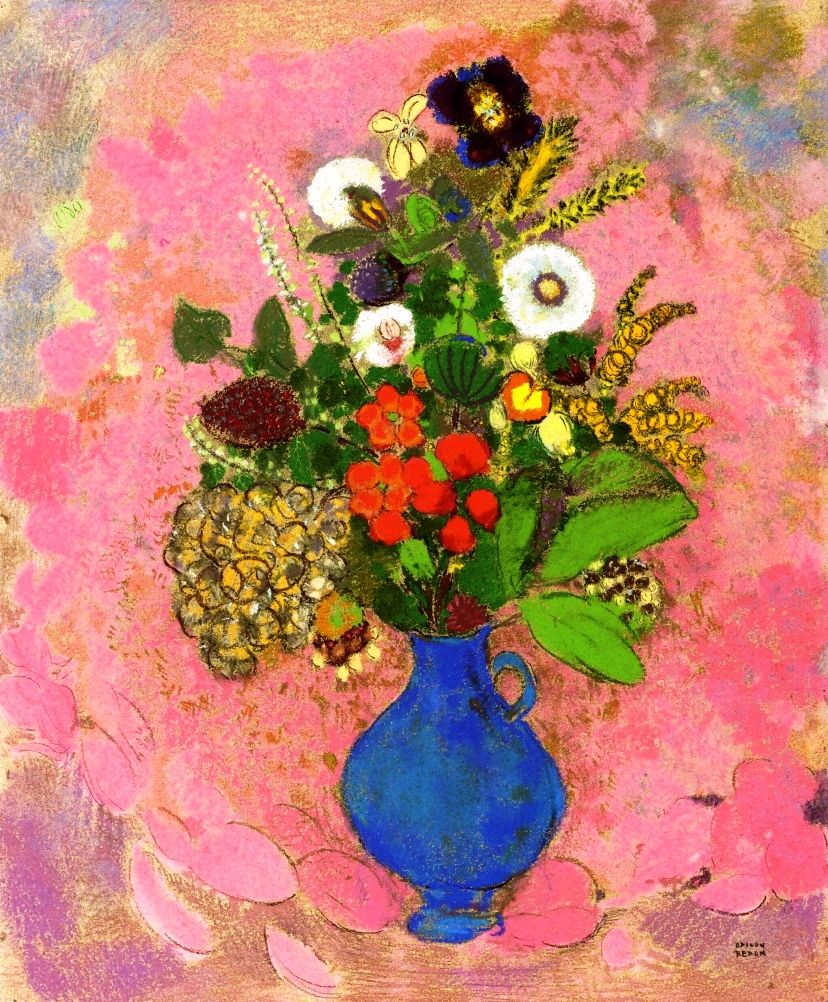 Flowers By Odilon Redon Starting At 139 Hello Spring Fever