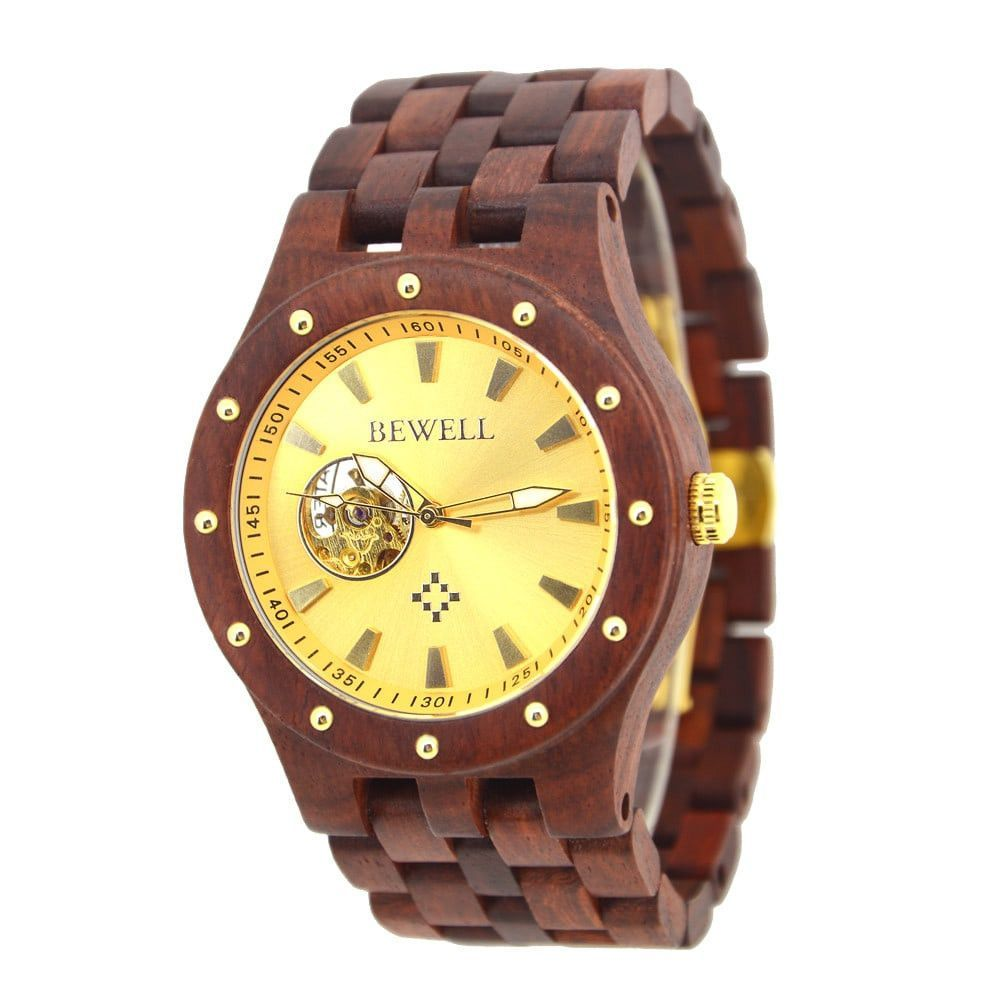 Wooden Luxury Watch-No Battery Automatic movement