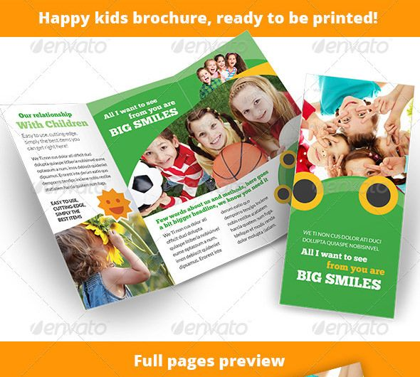 21+ Kindergarten Brochure Templates U2013 Free PSD, EPS, AI, InDesign, Word  Free Brochure Templates For Word To Download