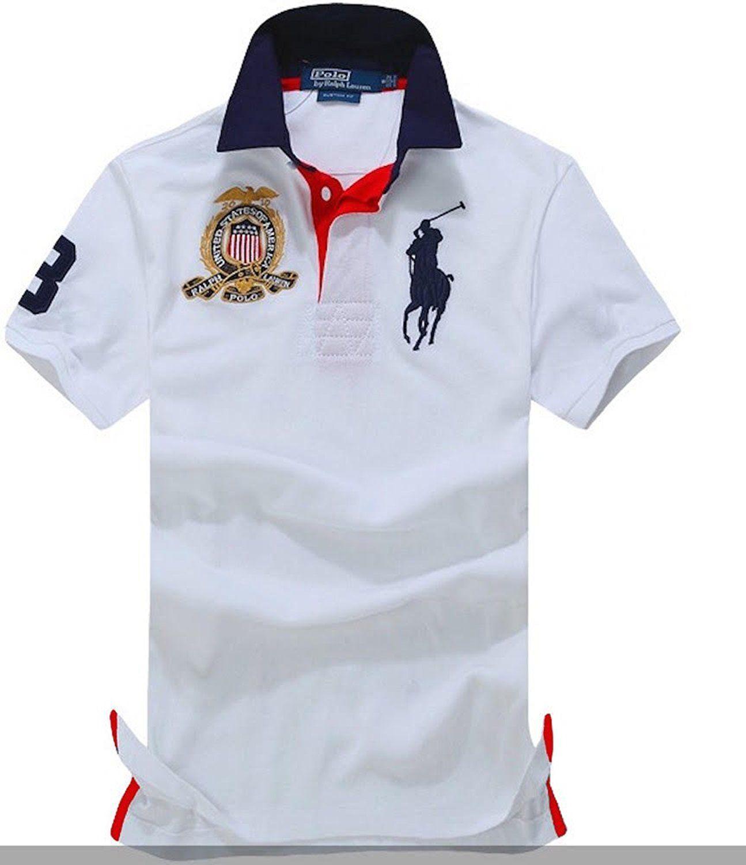 1b9c1301d Amazon.com: Polo Ralph Lauren Men's Lightweight Thin Mesh USA Polo Team  CUSTOM FIT Shirt (M, White): Clothing