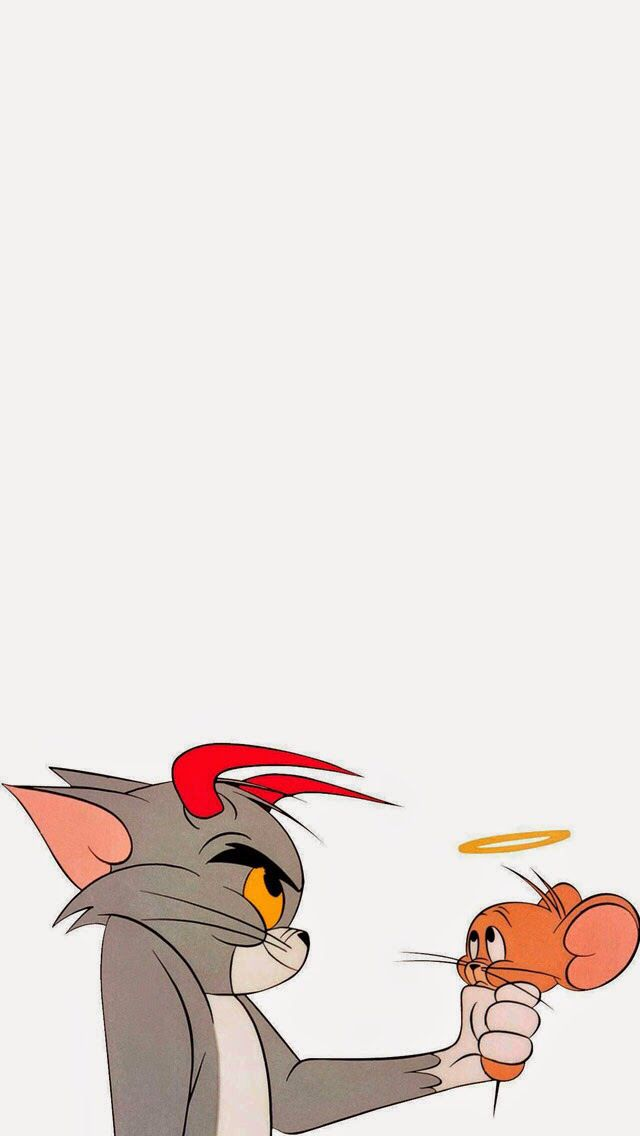 Tom and Jerry Cartoon wallpaper iphone, Locked wallpaper