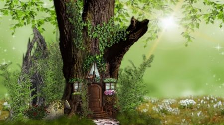 Fairy Home Nature Tree House Fairy House Fantasy