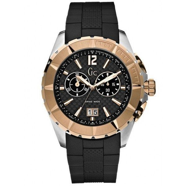 Guess Collection Mens Gold & Black Sports Watch GC I40500G1 -  Guess Collection – Fashion That Ticks.  #DesignerPoshWatches #ForHim #Discounts_Watches #Gift #Wa - #bdaygiftsforher #black #collection #giftsforhim #Gold #guess #i40500g1 #Mens #sports #Watch