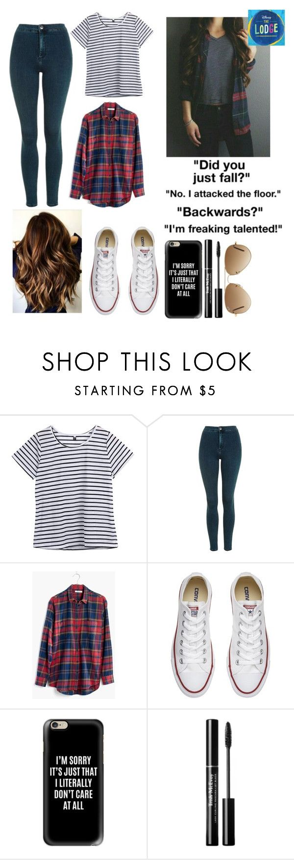 """Untitled #41"" by abbie0987 on Polyvore featuring Topshop, Madewell, Converse, Casetify and Ray-Ban"