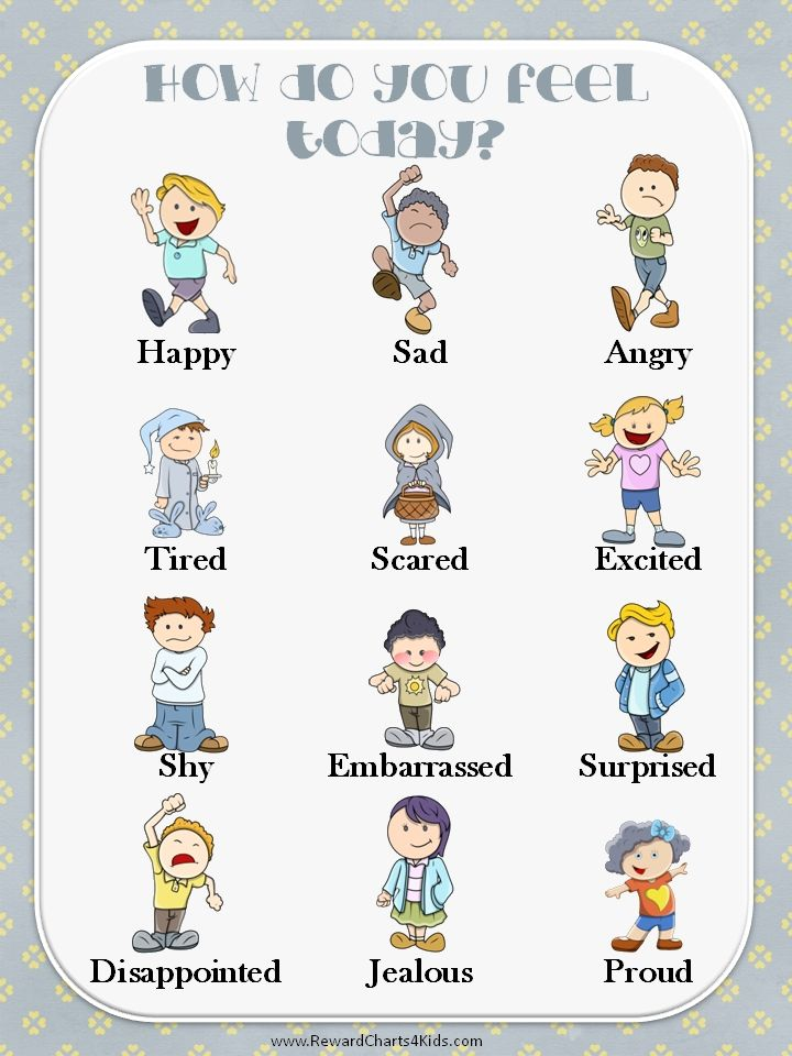 Printable Emotions Chart emotions chart Teacher Ideas