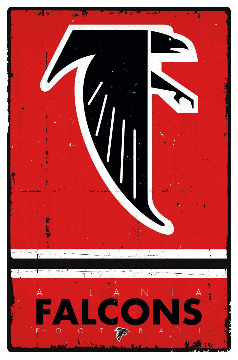 Nfl Atlanta Falcons Retro Logo Atlanta Falcons Poster Atlanta Falcons Falcons Football