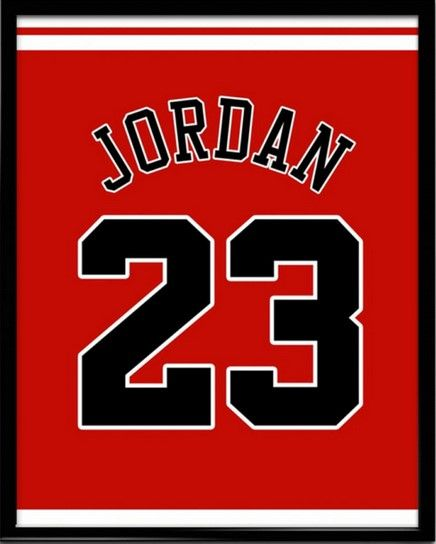 Michael Jordan Number 23 Chicago Bulls Jersey Art Print   Mancave