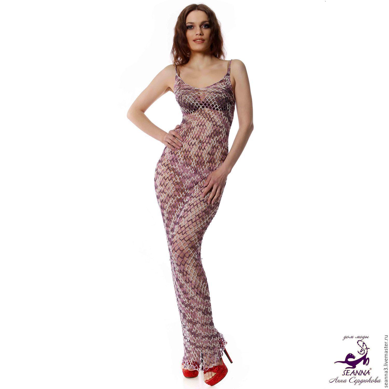 Платье из стрейч сетки