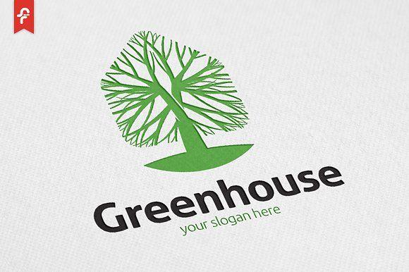 Green House Logo Templates Minimalist And Modern Logo Simple Work