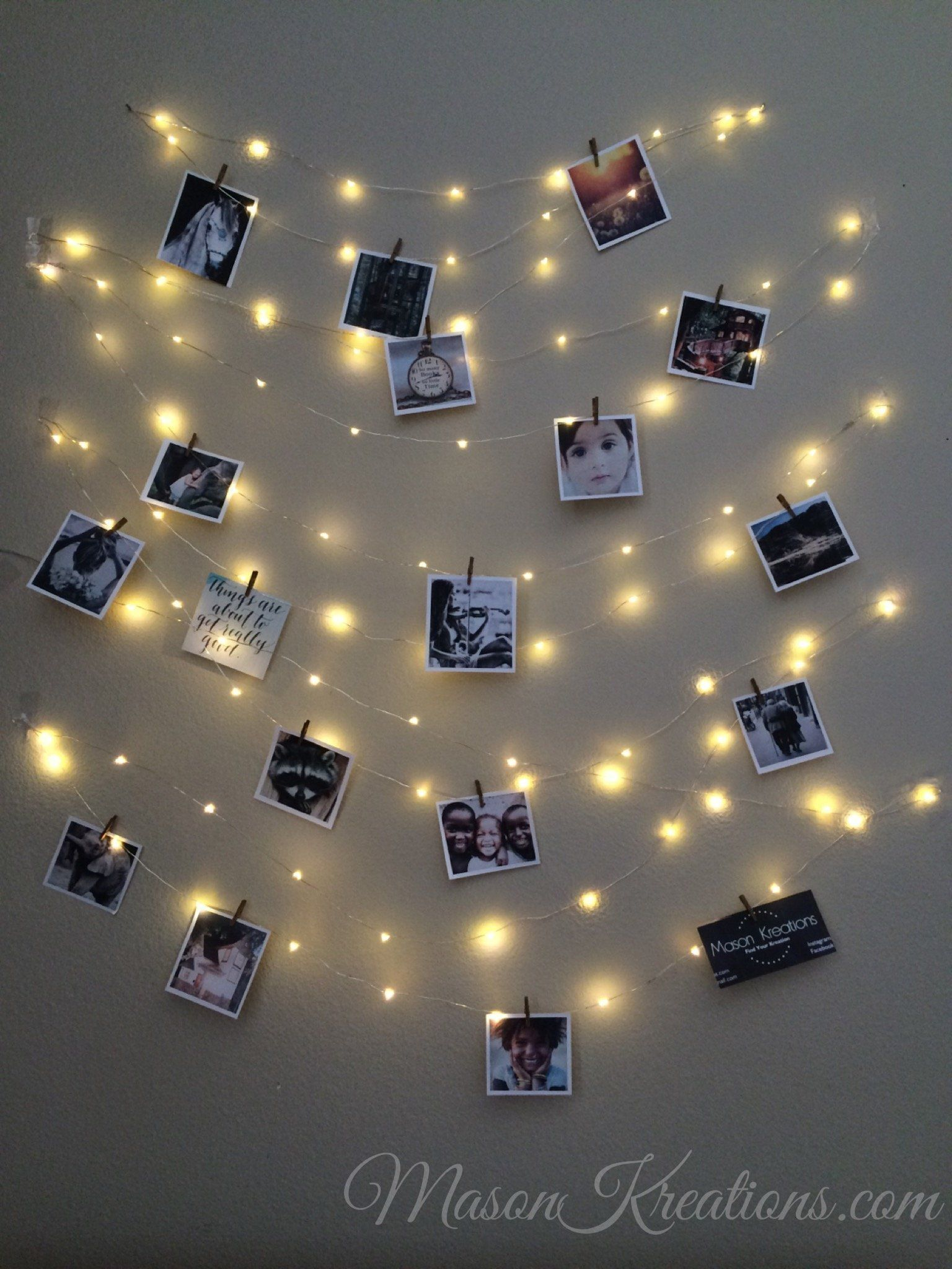 Mason Firefly Lights With Craft Clips Free Shipping Picture Frame Vintage Photo