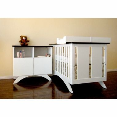 High Quality Eden Baby Madison 3 Piece Set With 3 In 1 Convertible Crib, Combo Dresser  And Changing Table Mat Frame In White U0026 Espresso