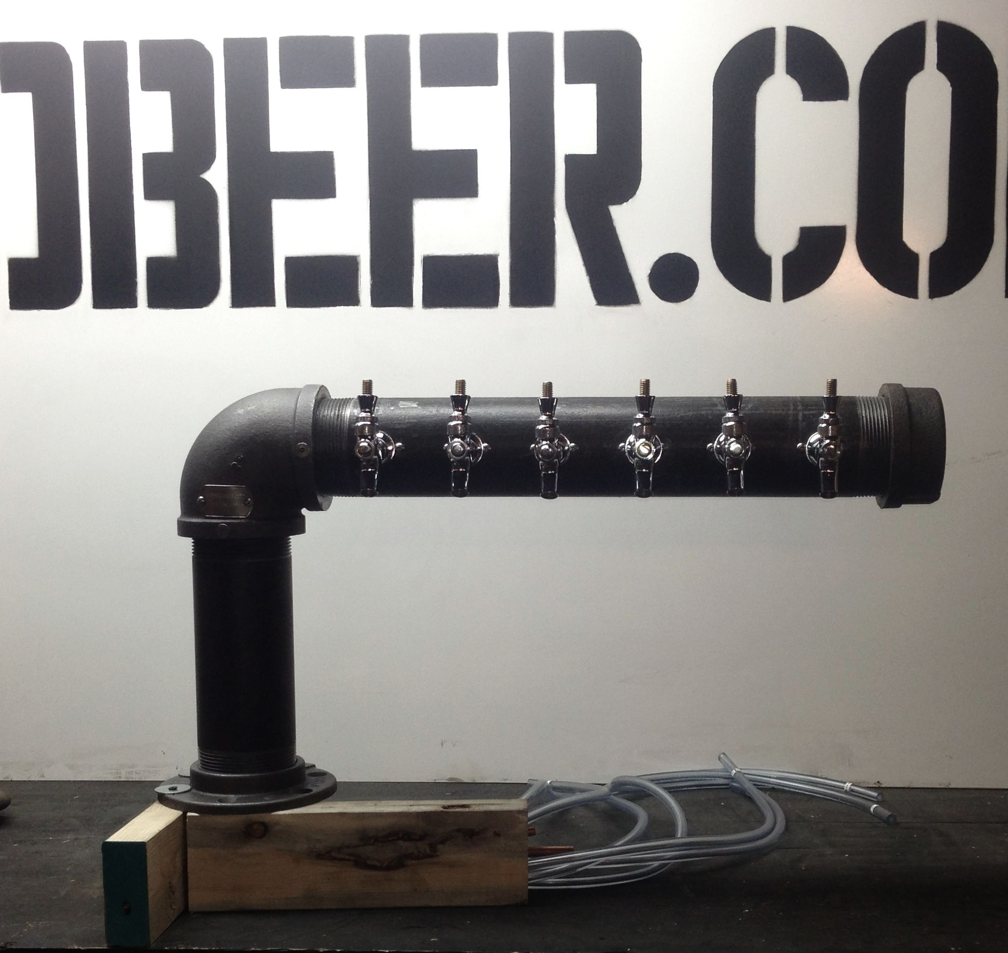 Black Iron L Shaped Beer Tower Www Tappedbeer Com Beer Tower