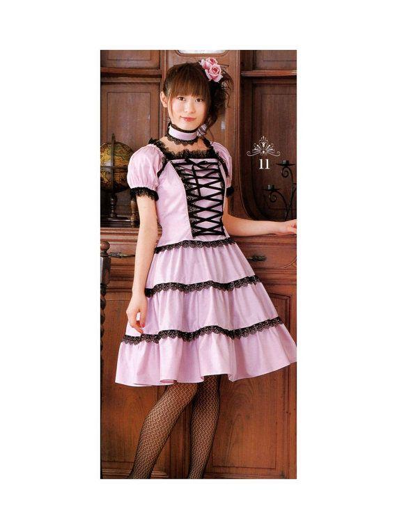 Lolita Front Corset Dress Sewing Pattern PDF English List of ...