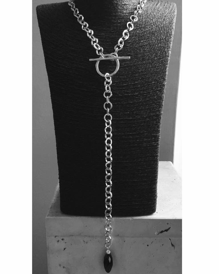 Collana grande catena in acciaio .....minimal is Chic!
