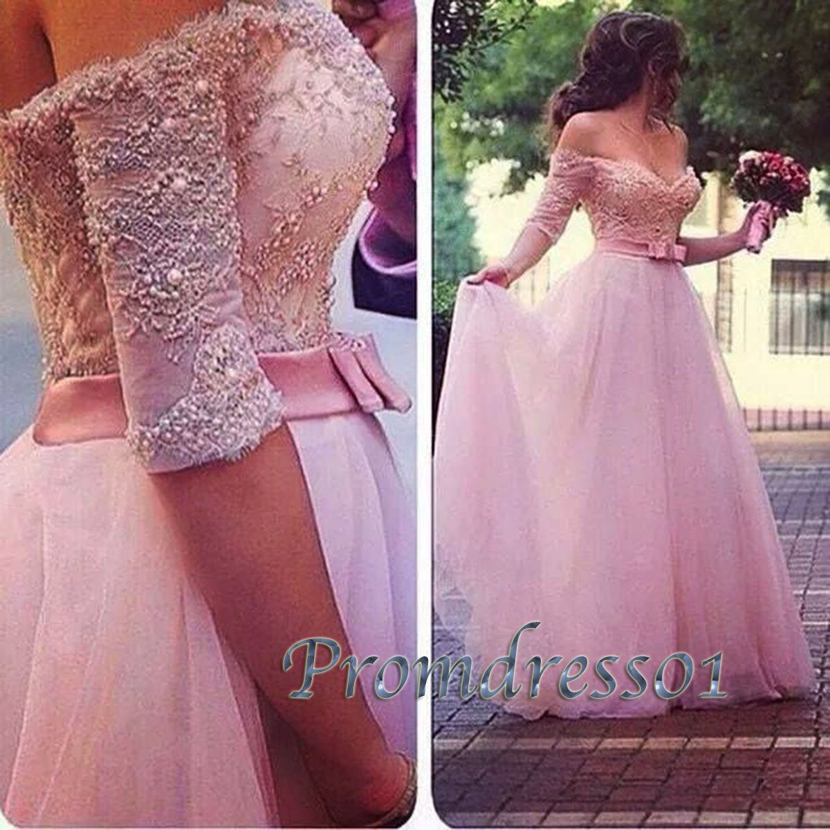 Gorgeous pink tulle strapless long prom dress, off-shoulder ball gown, non-white wedding dress, 2016 evening dresses from #promdress01 #promdress www.promdress01.c... #coniefox