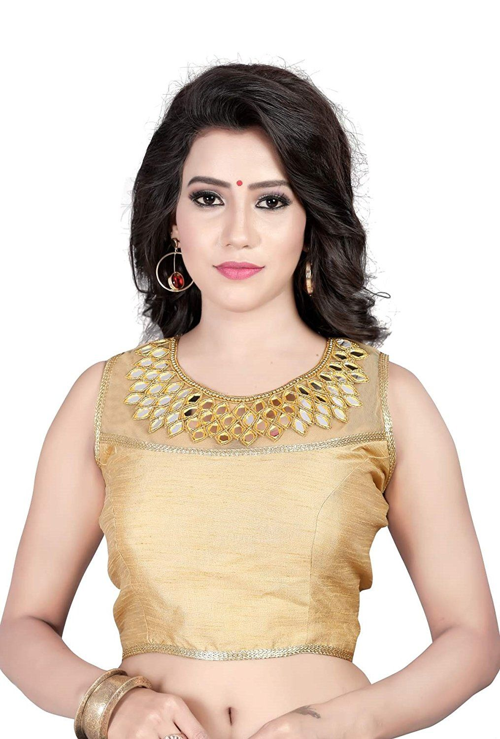 08c2faae4d6f7e Buy Kuvarba Fashion Golden Banglori Silk Blouses Online at Low prices in  India on Winsant