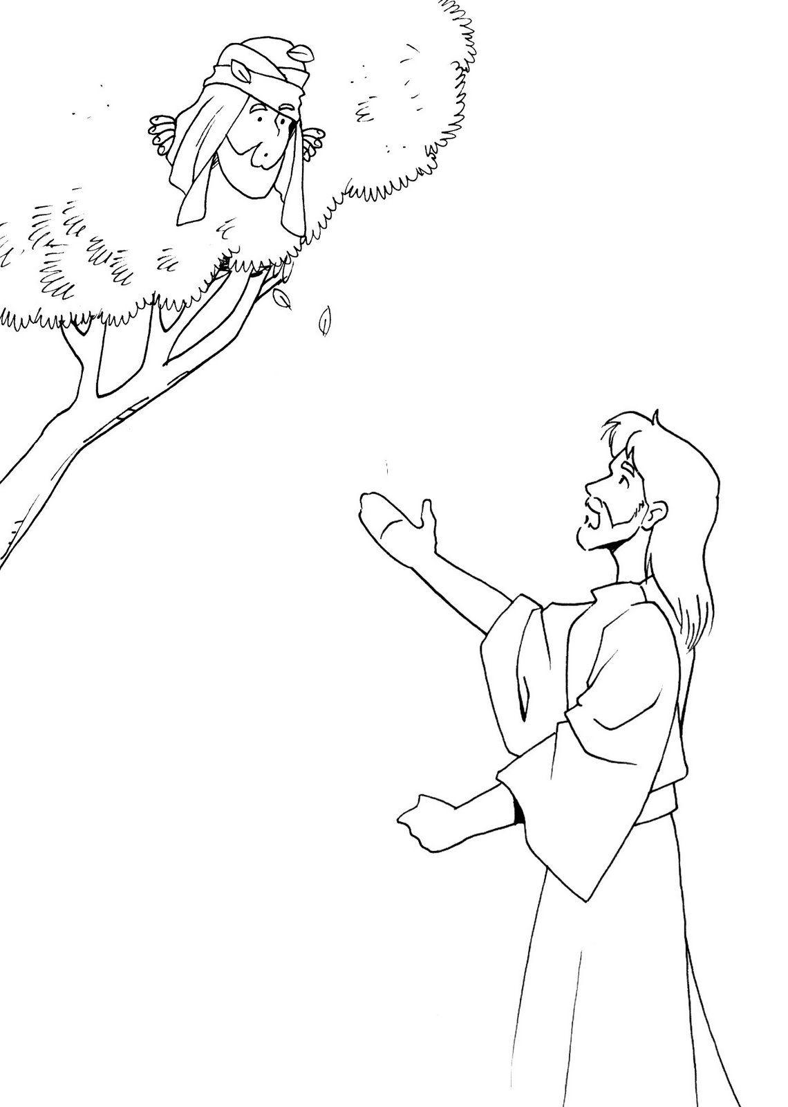 Zaqueo | Colorie-moi | Pinterest | Zaqueo, Biblia nuevo testamento y ...