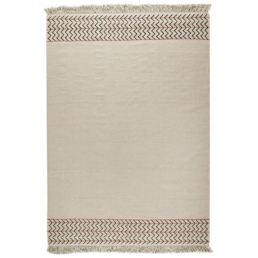 MA Trading Indian Hand-woven Valparaiso White Rug