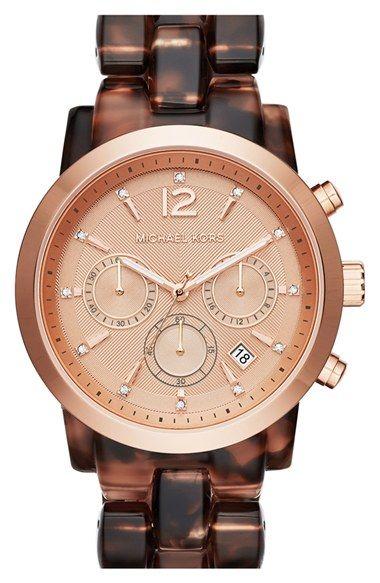 ee0ab91591e2 MICHAEL Michael Kors Michael Kors  Audrina  Chronograph Acetate Bracelet  Watch