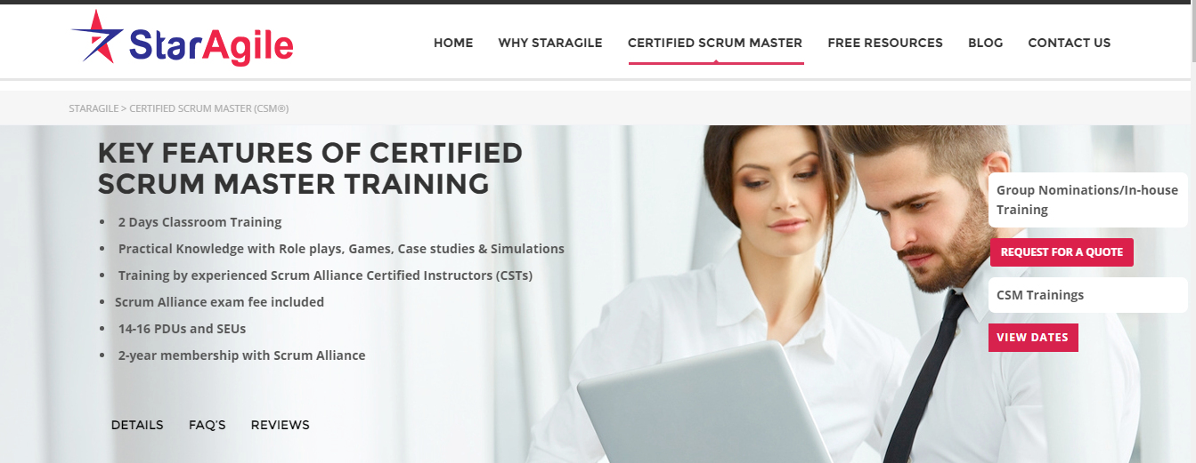 Csm Certification Agile Scrum Master Certification Training Course